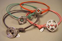 37B Vintage Button Bracelets
