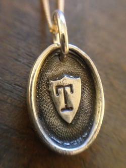 Shield Initial Pendant