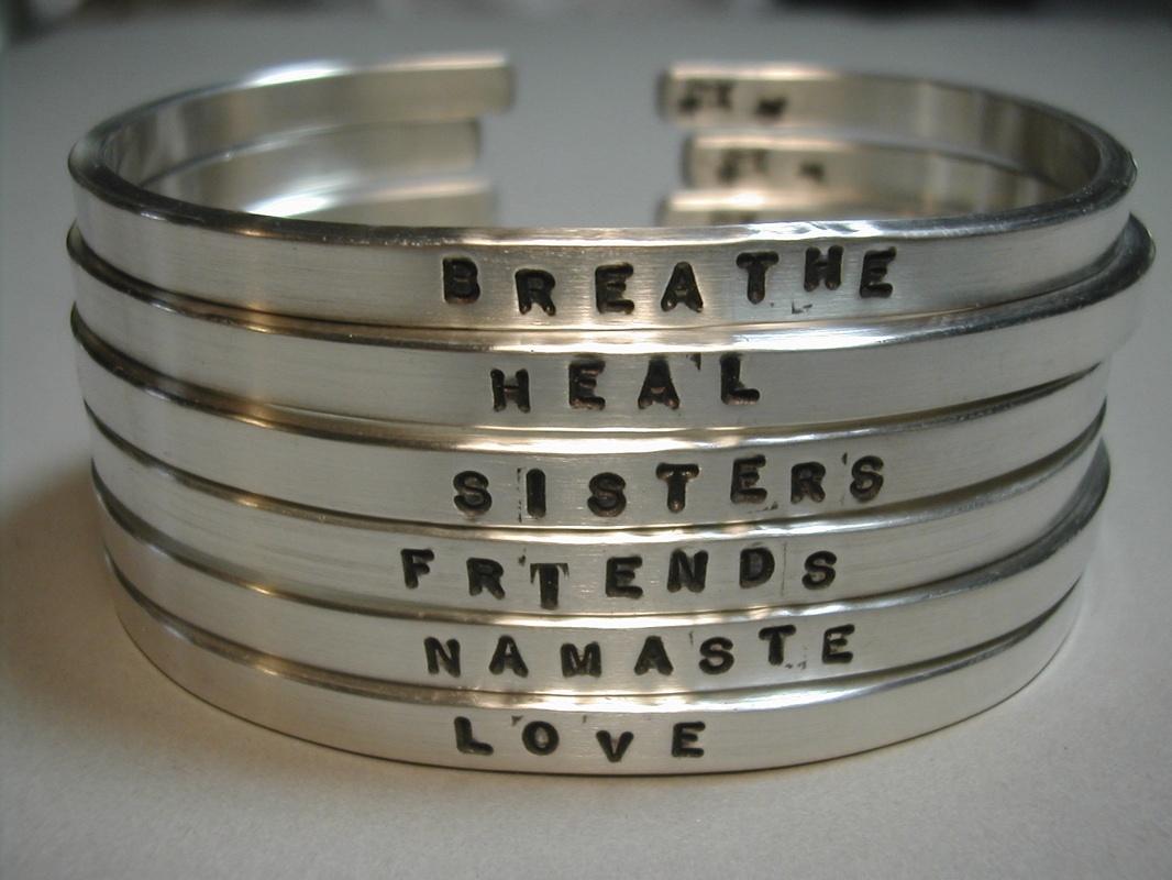Silver Word Cuffs #4C