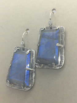 Hand-Cut Labradorite Earrings