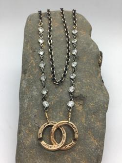 CZ Front Clasp Necklace