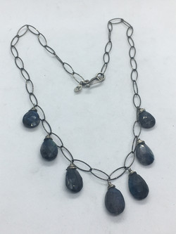 7 Labradorite Briolette Necklace