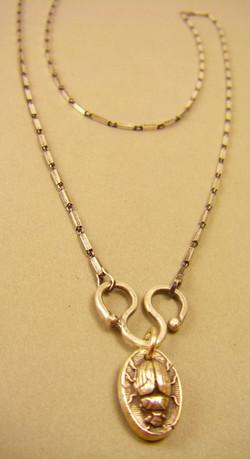 Single Charm Necklace w/Beetle