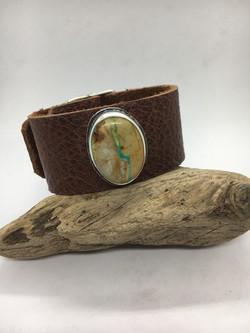 Ribbon Turquoise Buckle Bracelet