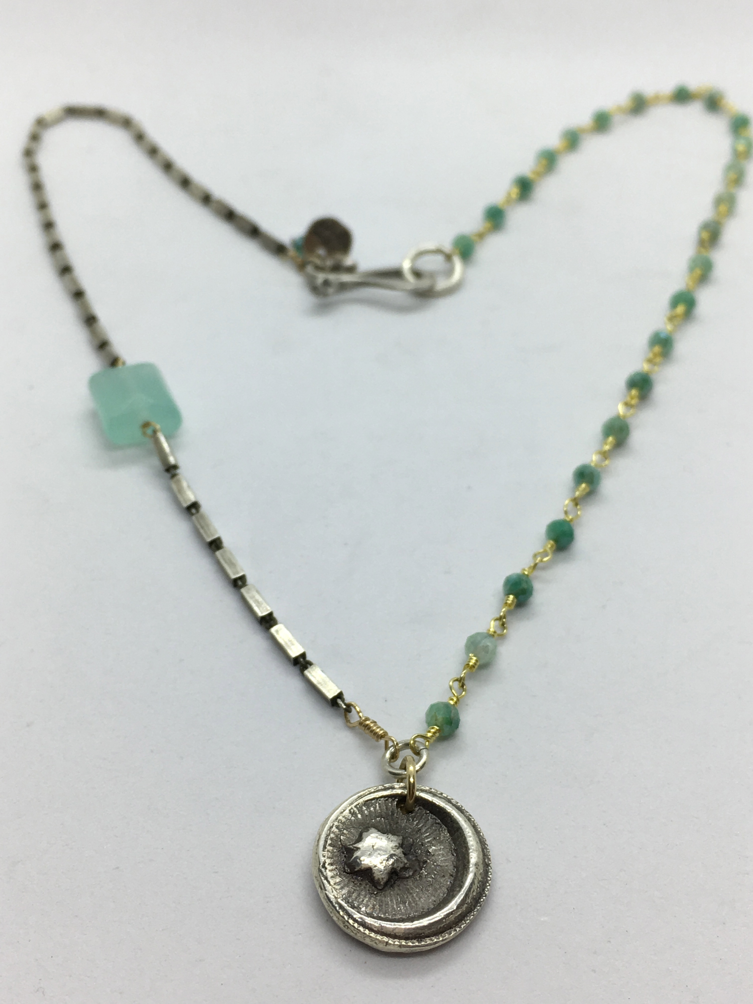 Star & Moon with Aqua Chalcedony