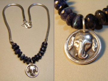 Elephant Necklace #b67