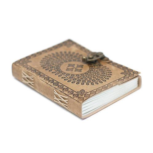 "Leather Blue Mandala Notebook (7x5"")"