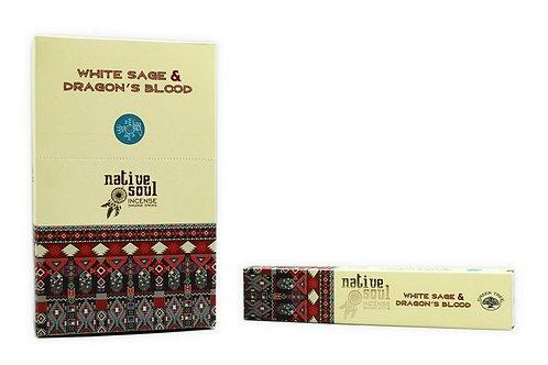 Native Soul White Sage & Dragon's Blood Incense Sticks