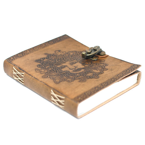 """Leather Greenman Notebook (6x8"""")"""