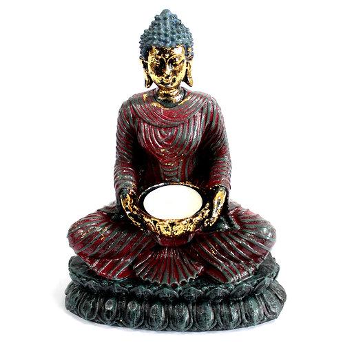 Antique Buddha - Devotee Candle Holder