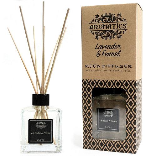 200ml Lavender & Fennel Essential Oil Reed Diffuser