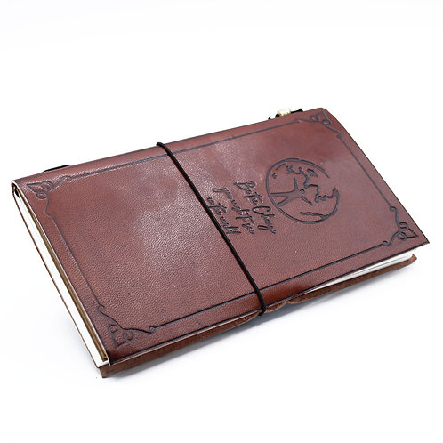 Handmade Leather Journal - Be the Change - Brown (80 pages)