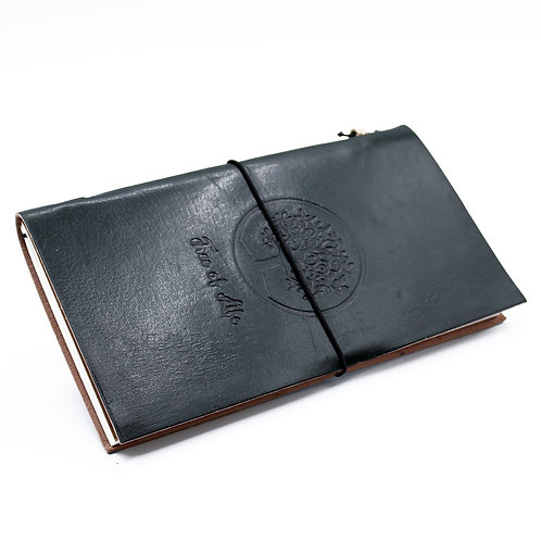 Handmade Leather Journal - Tree of Life - Green (80 pages)