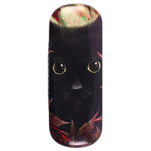 Autumn Cat Glasses Case by Linda Jones