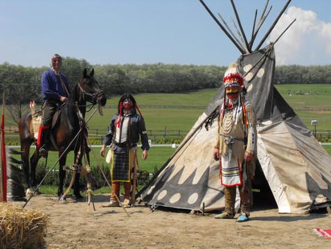 Indián díszlet, indián dekoráció, indián sátor