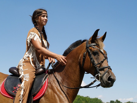 Western műsor/ vadnyugati lovas show