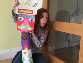 Home-made Totem Pole!