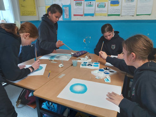 Painting Spooky Landscapes - Sixth Class