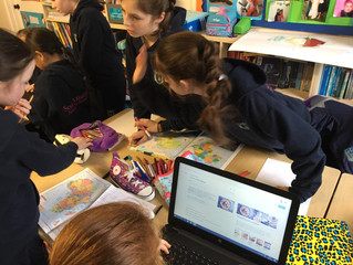 5th class working on their African Continent Projects - 15th February 2019