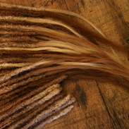 Different finish human hair extensions w