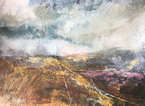 Tracks Across the Moors 52x43cm glazed.j