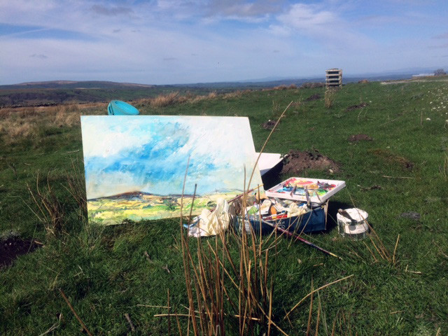 Painting on the moors