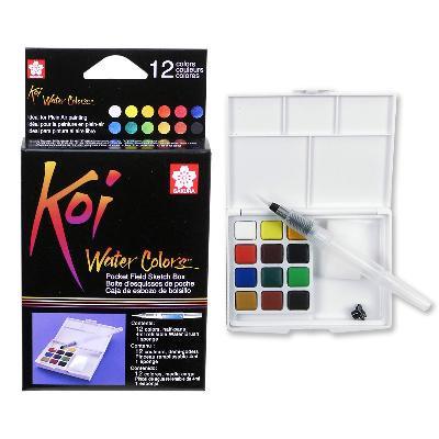 Sakura Koi Watercolour Pocket Field Sketch Box (12-colour)