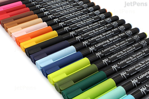 Sakura Koi Coloring Brush Pen (24-color Set)