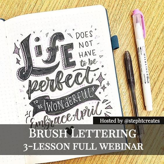 Brush Lettering 3-lesson Webinar (16 Aug Batch)