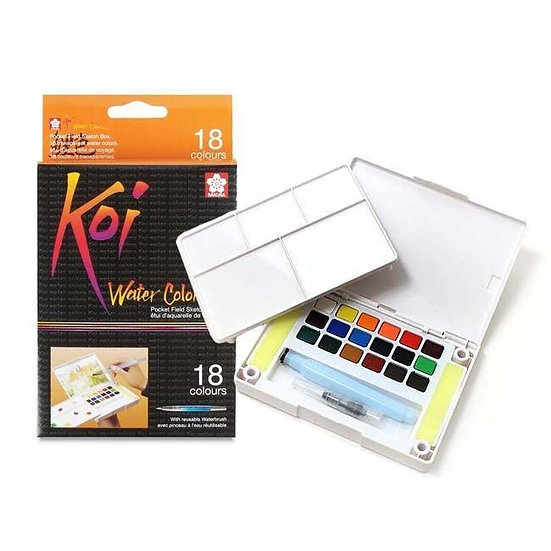 Sakura Koi Watercolour Pocket Field Sketch Box (18-colours)