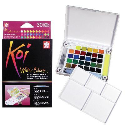 Sakura Koi Watercolour Pocket Field Sketch Box (30-colours)