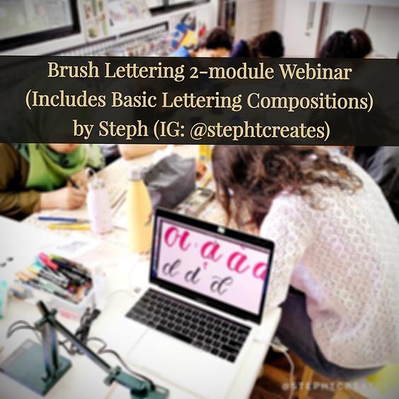 Brush Lettering 3-lesson Webinar (24 May Batch)