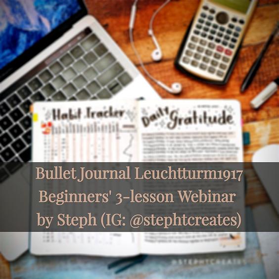 Bullet Journal Leuchtturm1917 Beginners' Webinar (23 May Batch)