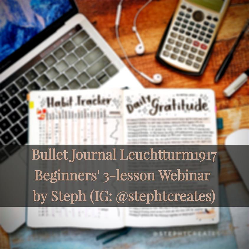 Bullet Journal Leuchtturm1917 3-lesson Webinar (22 August Batch)