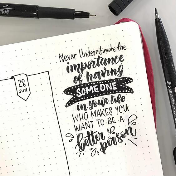 [Weekday] Brush Lettering Beginner Workshop @ Jubilee Square