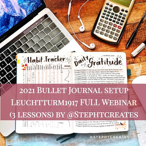 2021 Bullet Journal Setup Leuchtturm1917 Full Webinar (3 lessons)