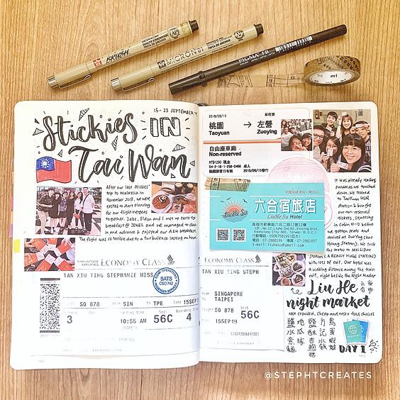 Mailing List: Travel Bullet Journaling Workshop
