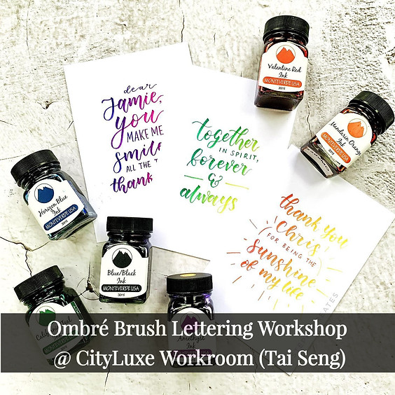 Ombré Brush Lettering (Valentine Special) Workshop