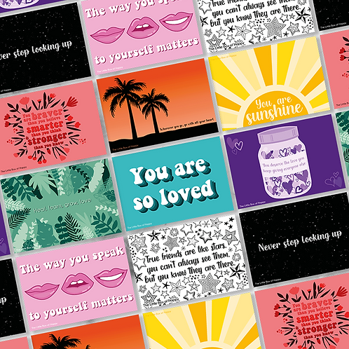 Motivational Quote Cards (Pack of 9)