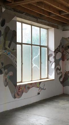 Peinture murale 2020. La Nouvelle Manufacture. Saint-Martin de Valamas. Ardèche