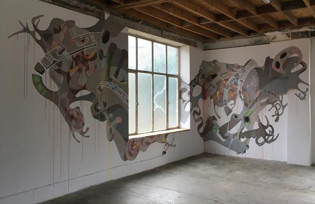 Préparation Fresque murale