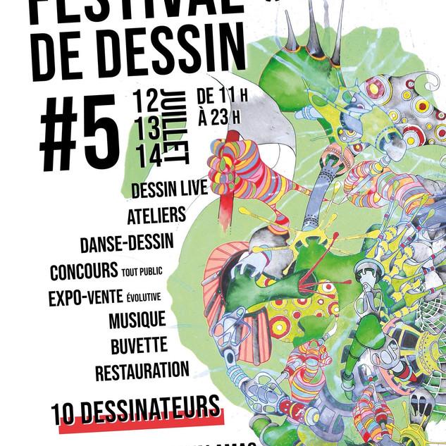 Festival de dessin. Centre d'Art La Nouvelle Manufacture. 2018