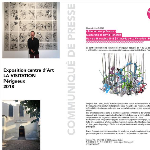 Exposition Centre d'Art La Visitation. Périgueux. 2018