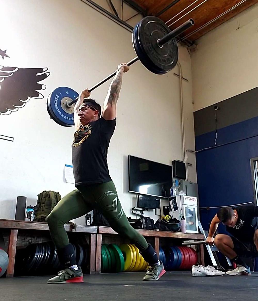 olympic weightlifting split jerk