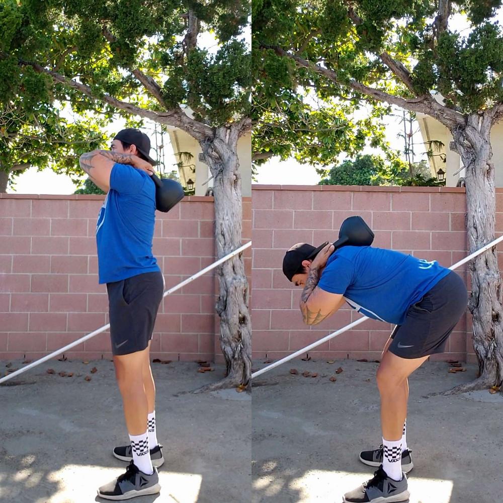 kettlebell good morning exercise