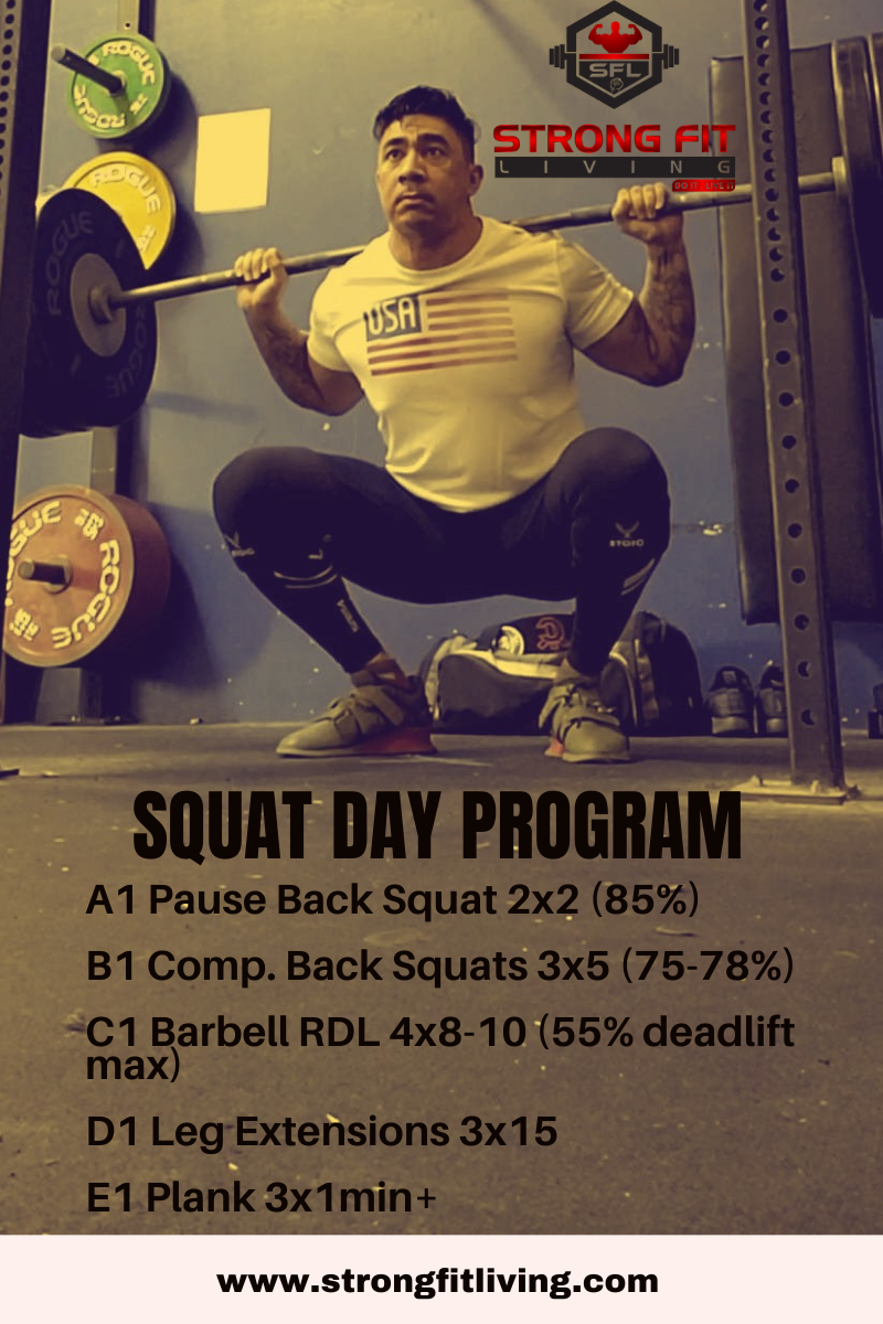 squat day powerlifting program