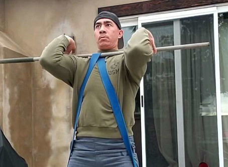 Home Training Banded Front Squats