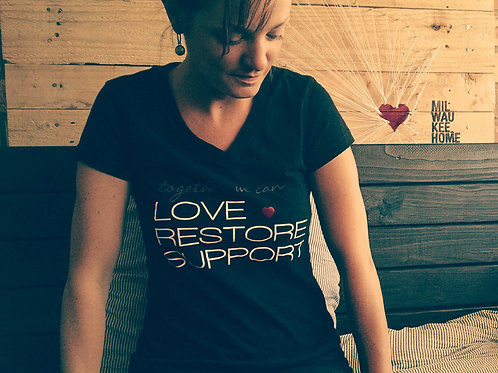 Love Restore Support - Vneck