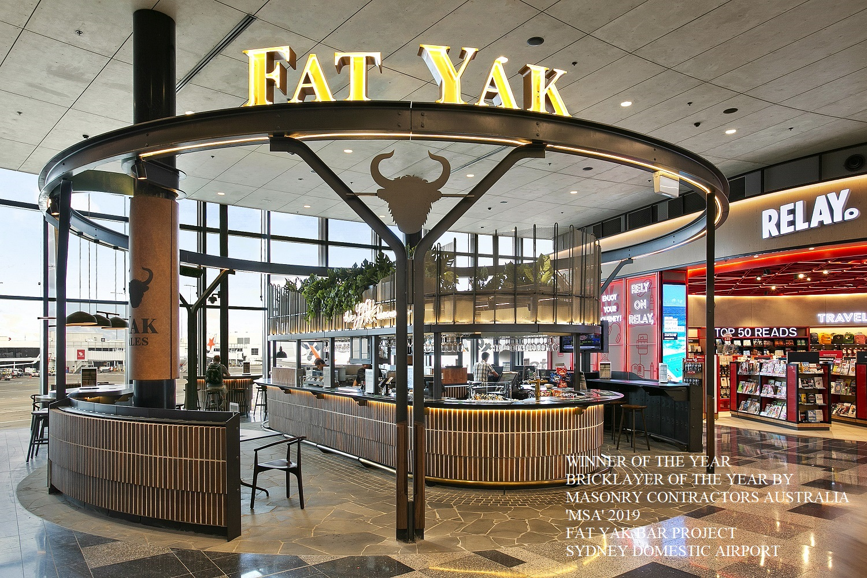Fat Yak bar, sydney airport