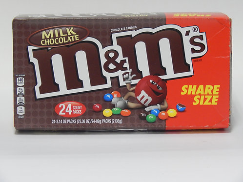 Share Size M&M Milk Chocolate (Case of 24)